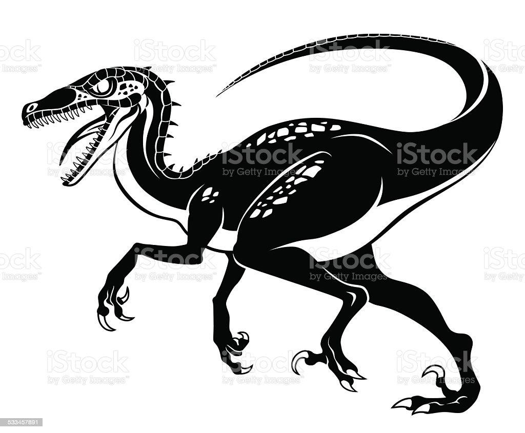 Raptor vector art illustration