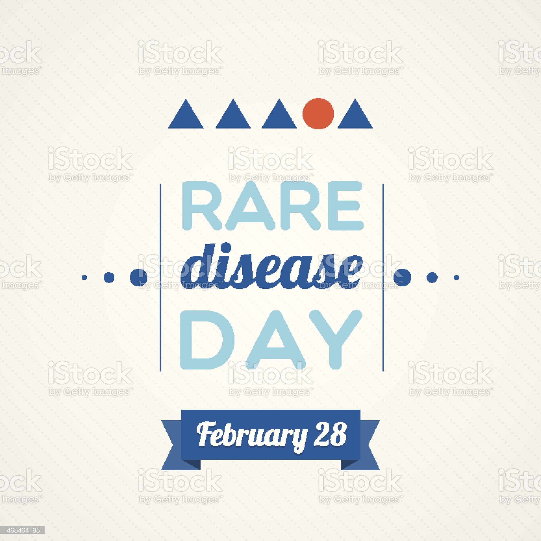 Rare Disease Day royalty-free stock vector art