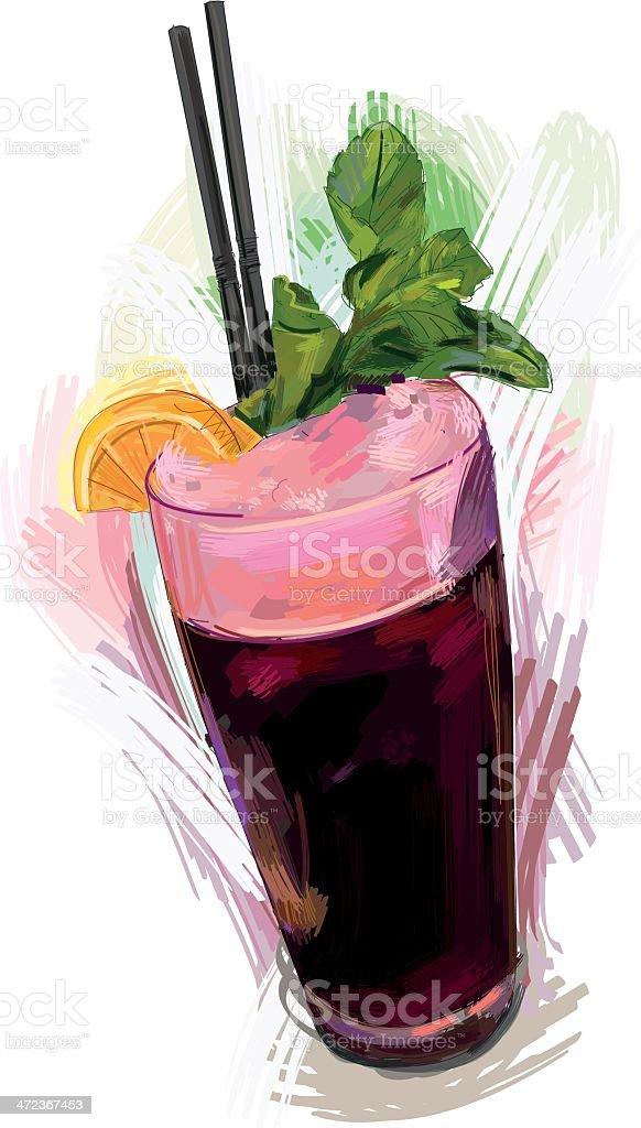 Raspberry Soda vector art illustration