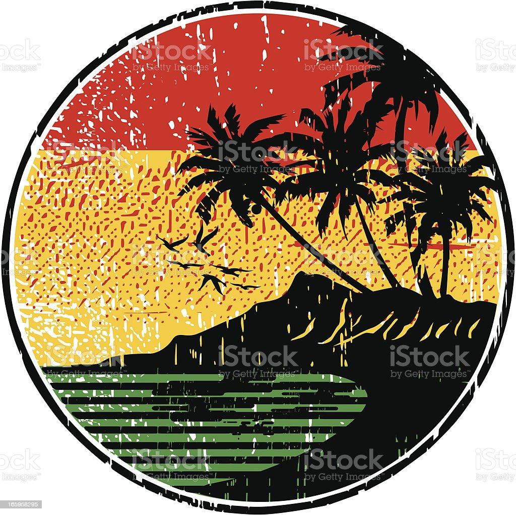 rasta island vector art illustration