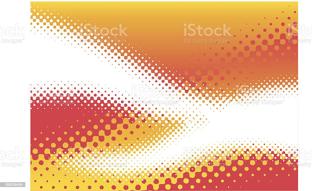 Rasterized 1 - dot gain tentacles royalty-free stock vector art
