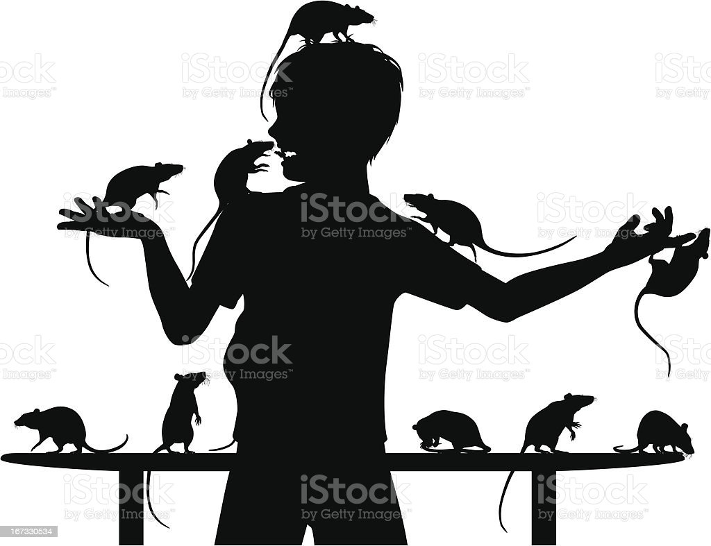 Rat boy vector art illustration