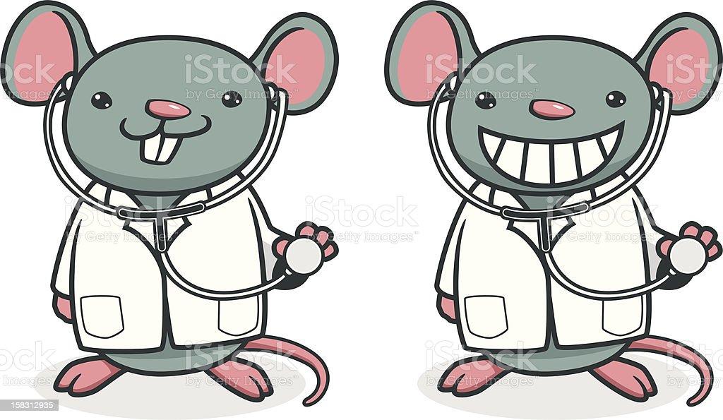 Rat Doctor vector art illustration