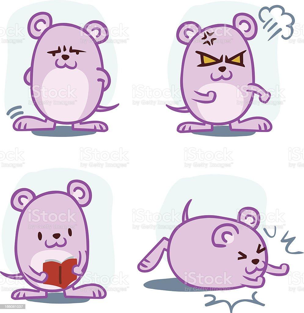 Rat Emotion royalty-free stock vector art