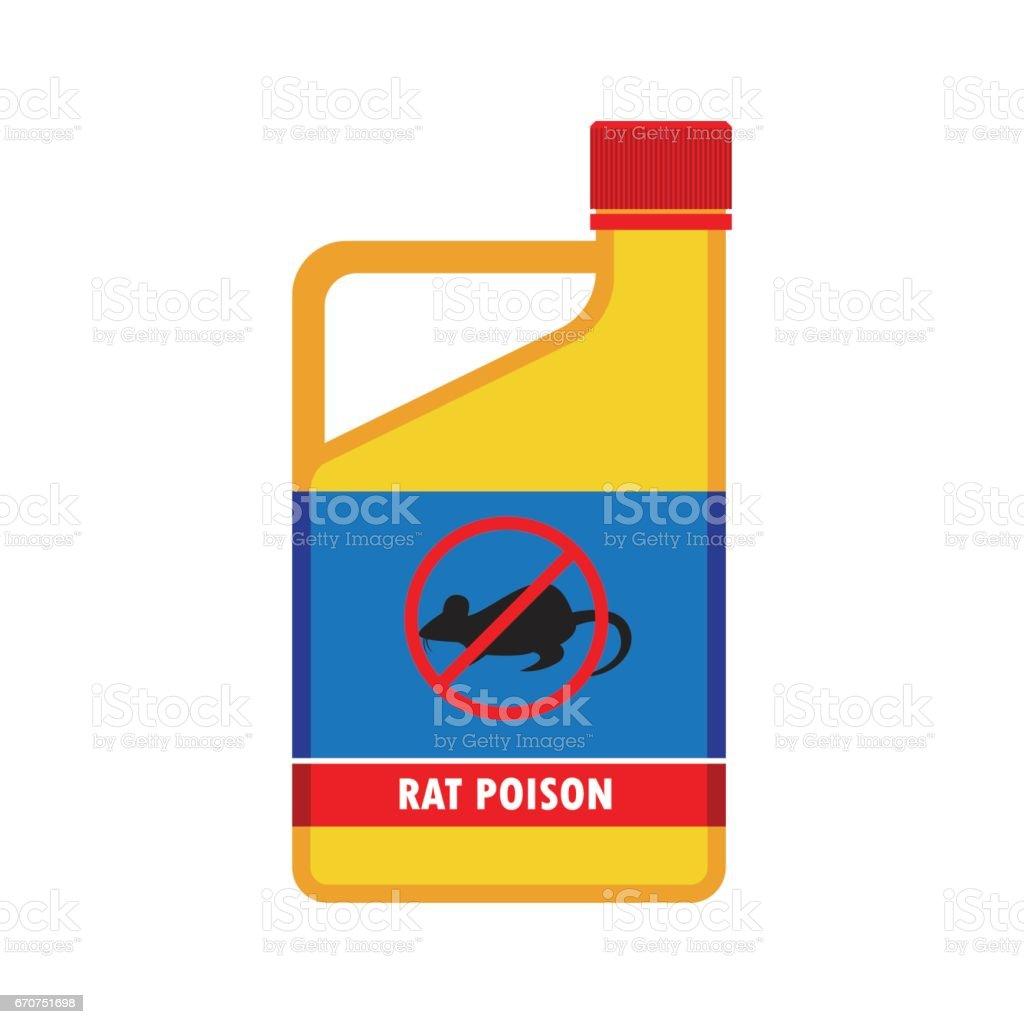 rat killer poison liquid in the bottle concept. vector illustration vector art illustration