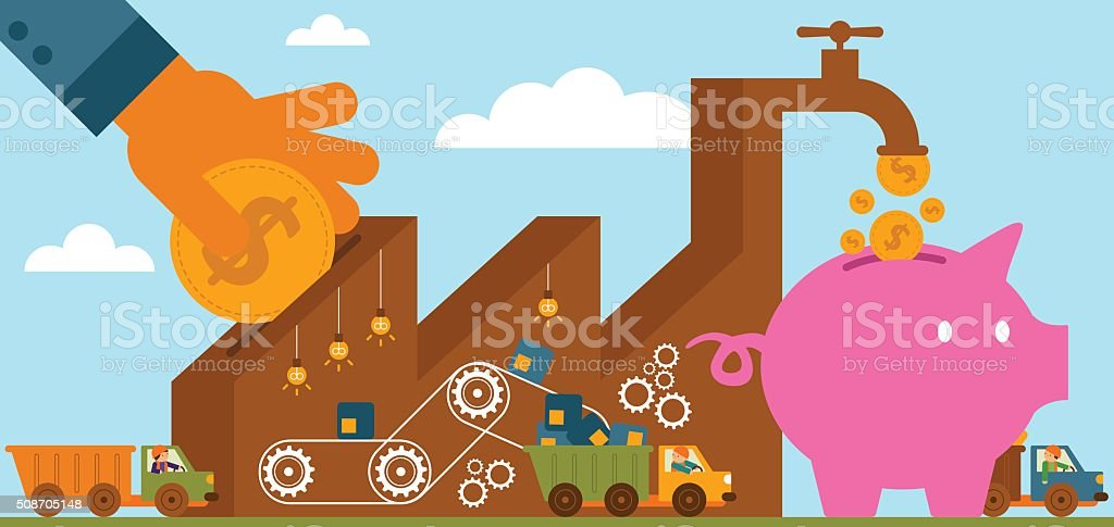 Rate Of Return: Manufacturing vector art illustration