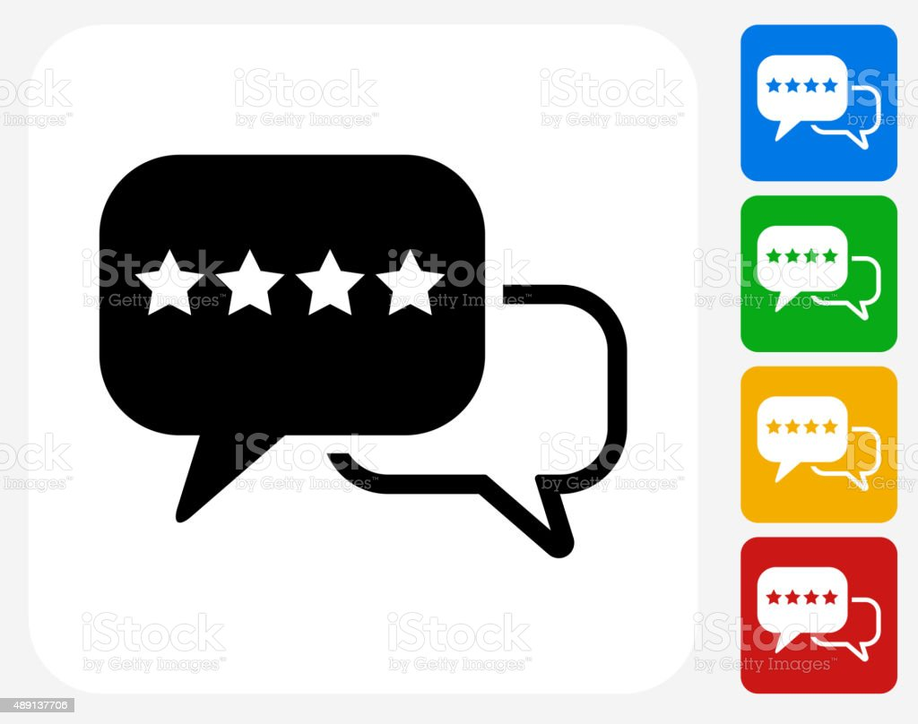 Rating and Review Icon Flat Graphic Design vector art illustration