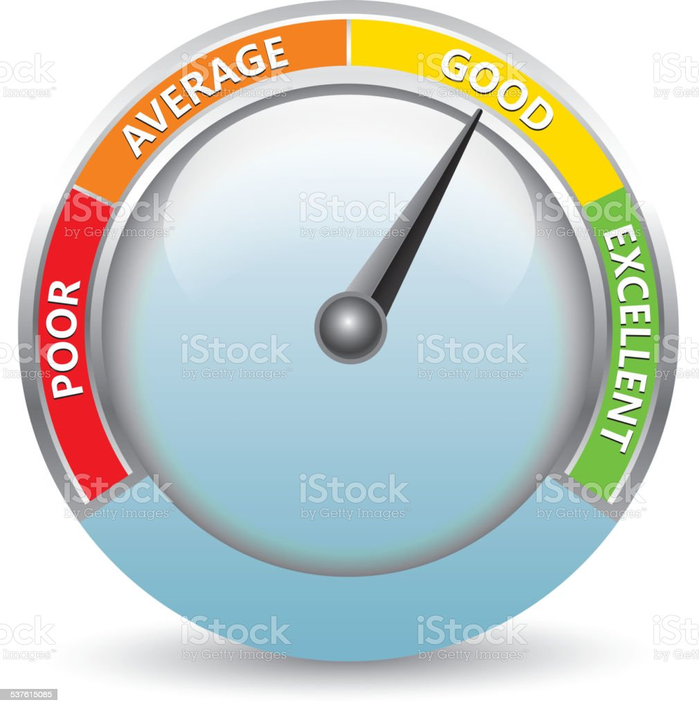 Rating meter vector art illustration
