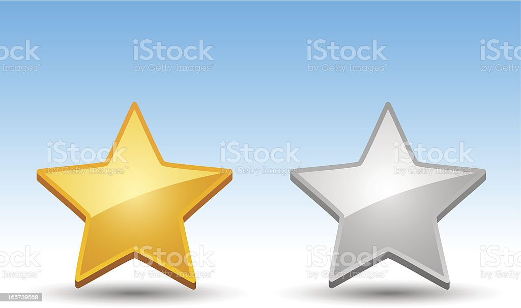 Rating Star Icons royalty-free stock vector art