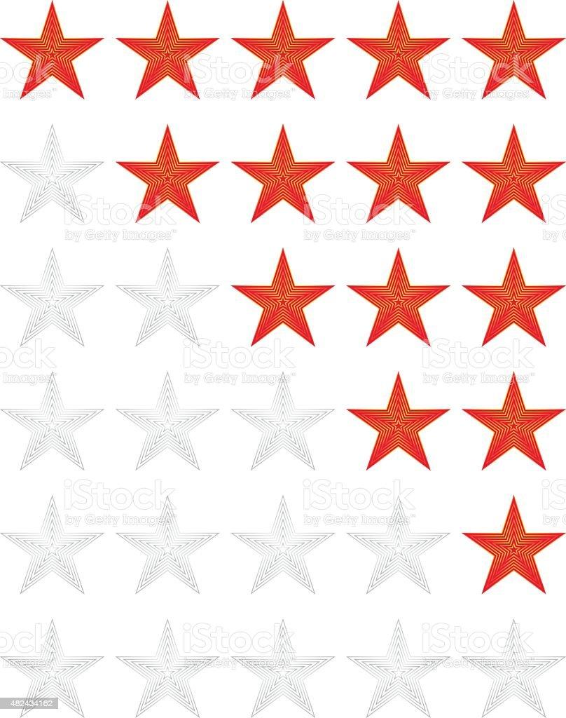 Rating Star vector art illustration