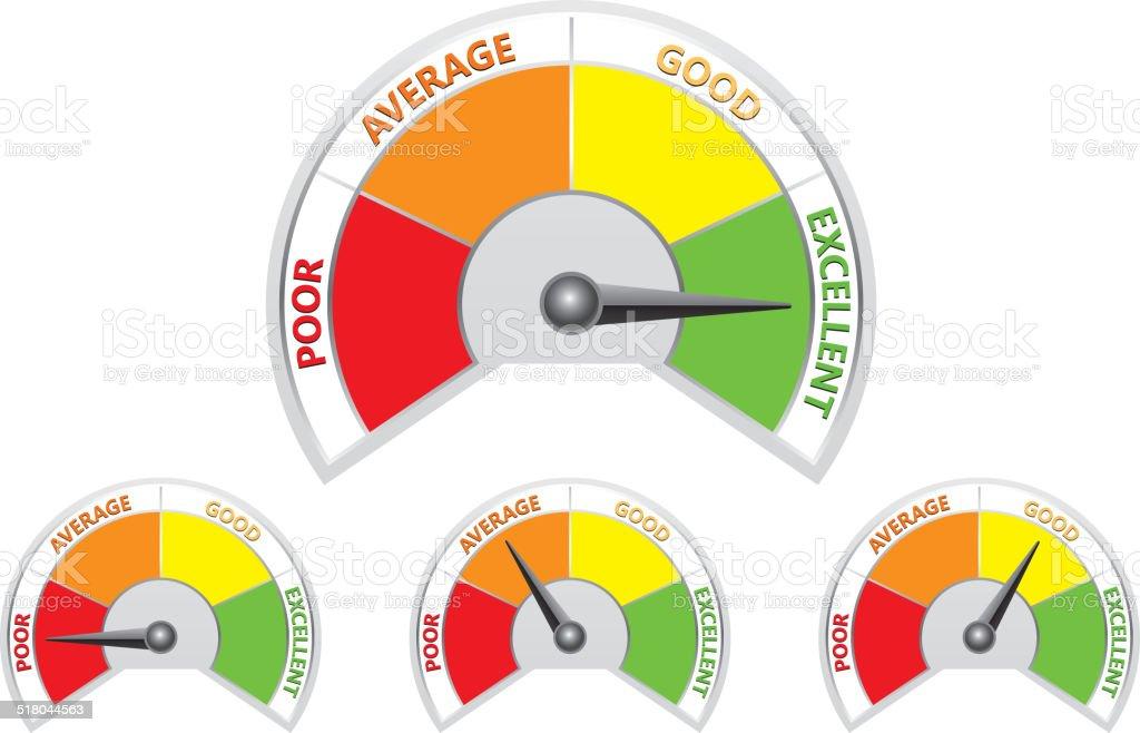 Rating vector art illustration