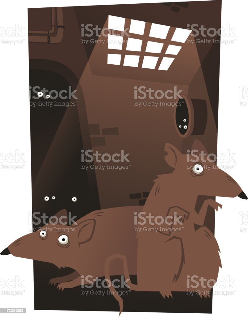 Rats Rodent Cheese Trap Set royalty-free stock vector art