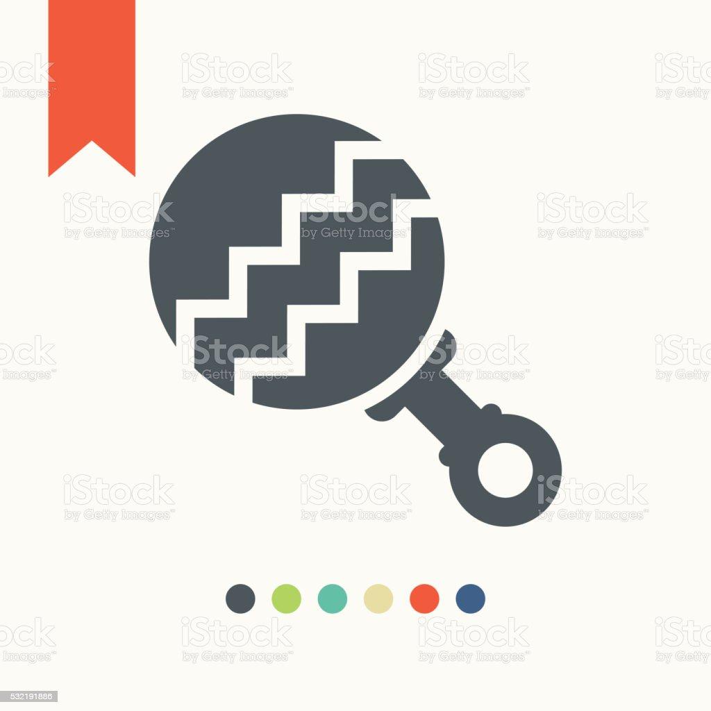 Rattle icon vector art illustration