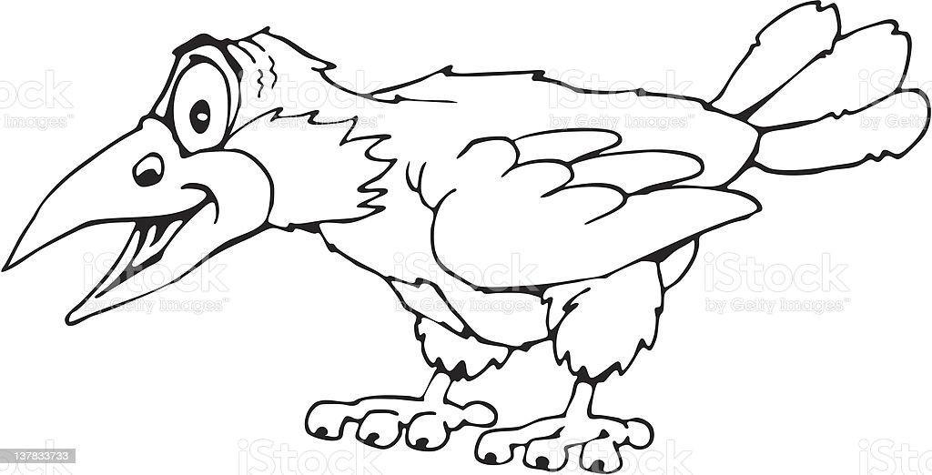 raven cartoon royalty-free stock vector art