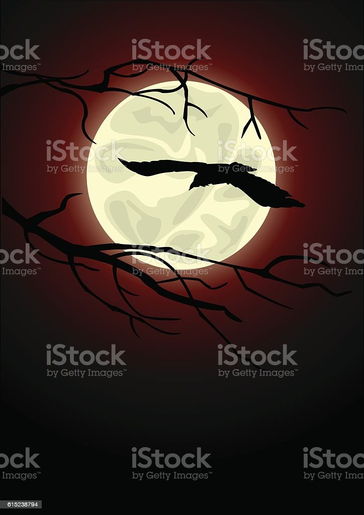 Raven royalty-free stock vector art