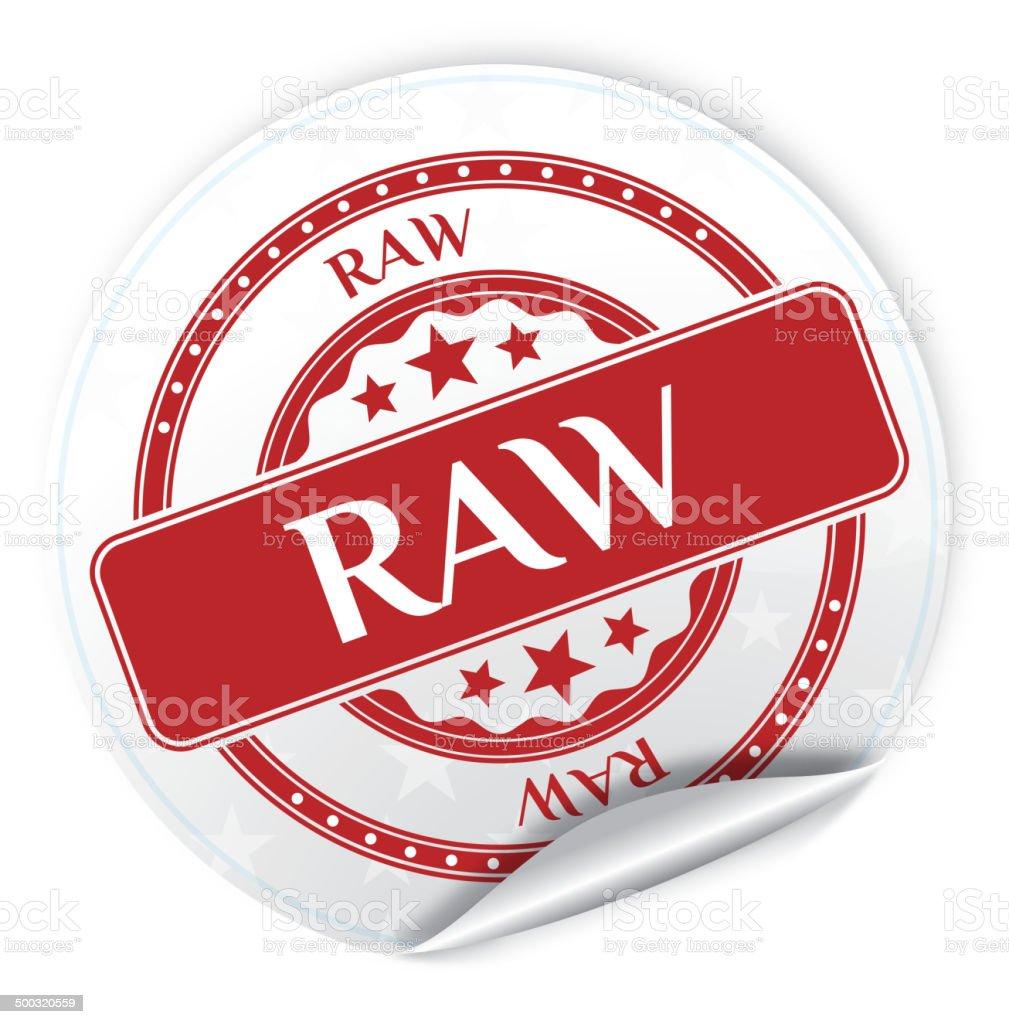 Raw Sticker vector art illustration