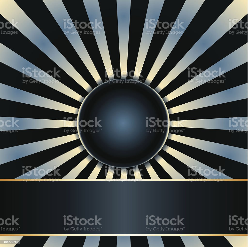 Ray background and label royalty-free stock vector art
