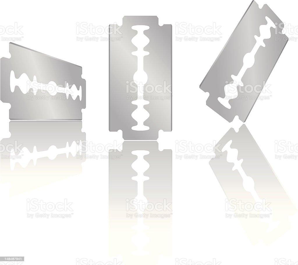 Razor blade royalty-free stock vector art