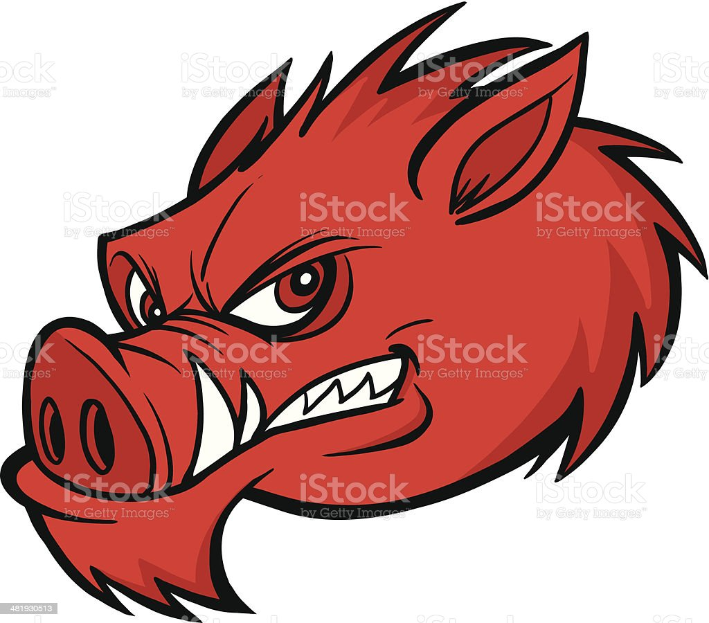 Razorback Mascot royalty-free stock vector art