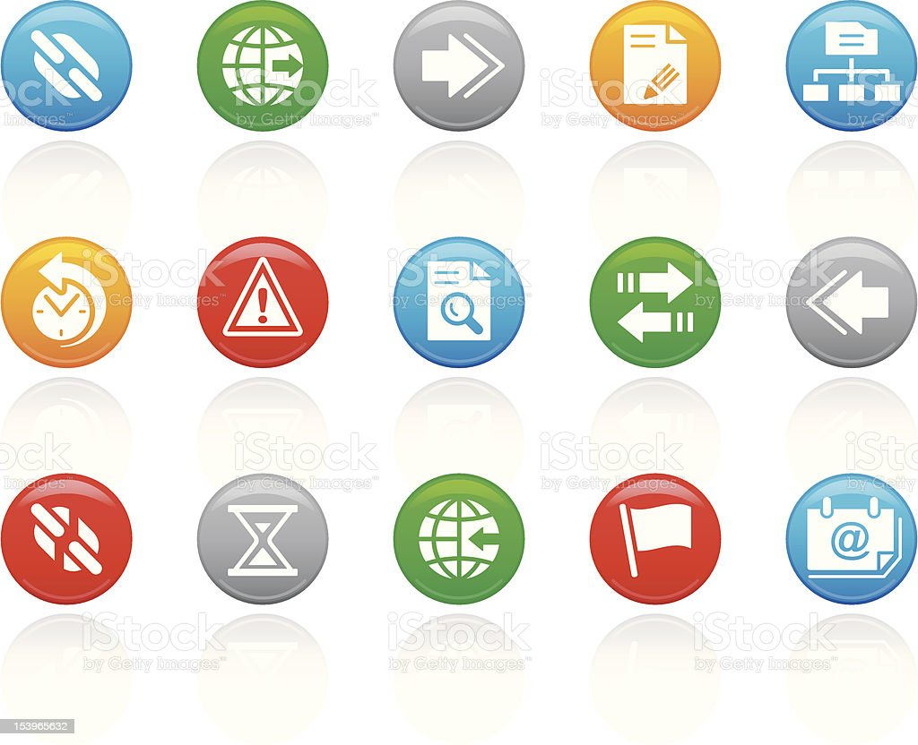 'R-Button' Icon Series | Web & Server royalty-free stock vector art