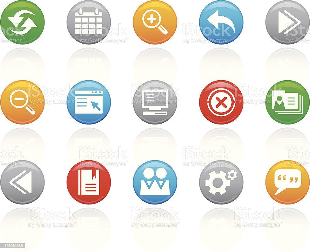 'R-Button' Icon Series | Web & Server royalty-free stock vector art