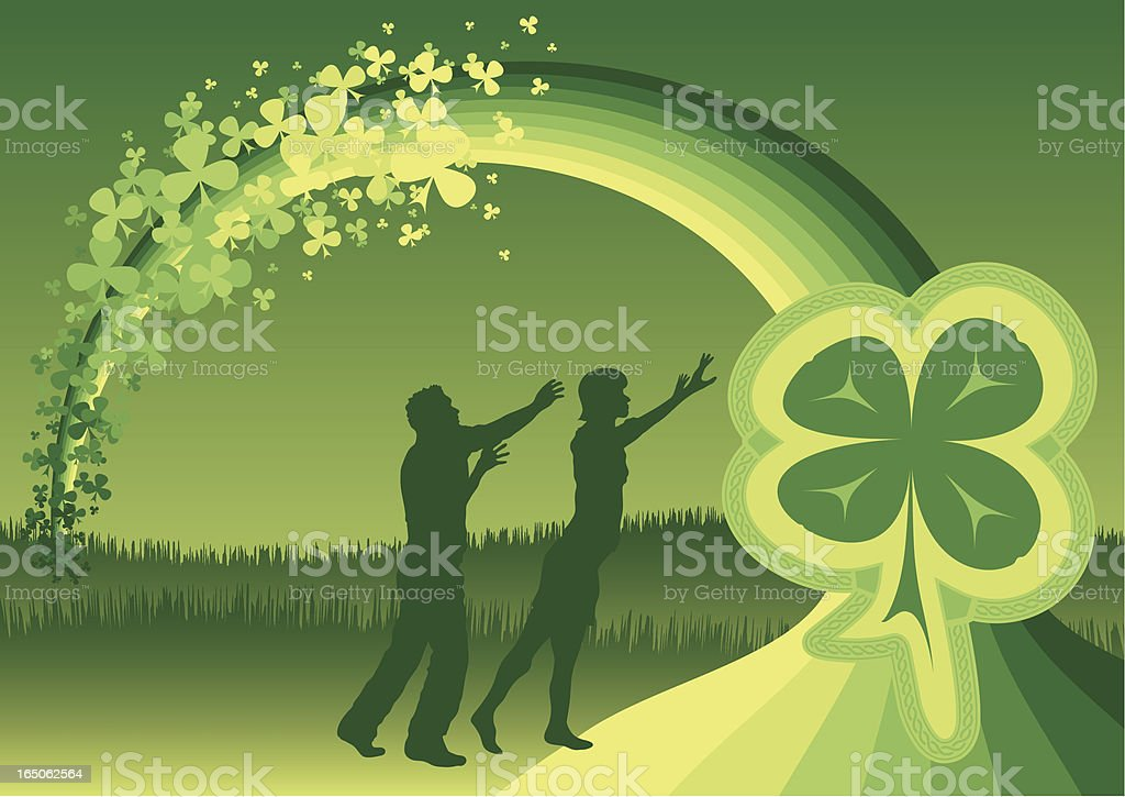 Reach for Luck royalty-free stock vector art