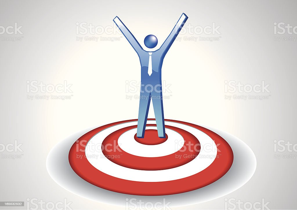 Reach the target royalty-free stock vector art