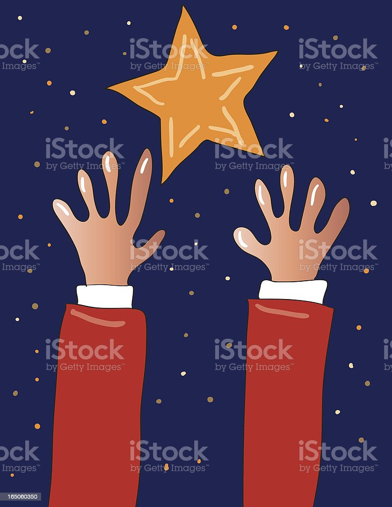 Reaching for star royalty-free stock vector art