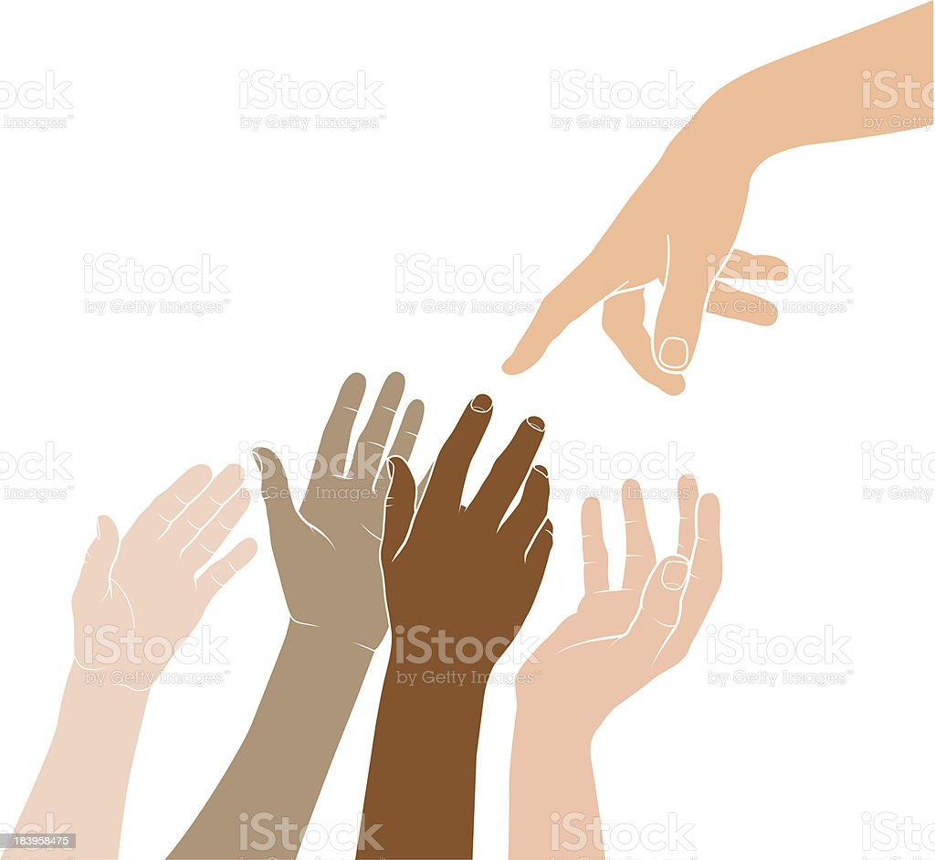 Reaching out royalty-free stock vector art