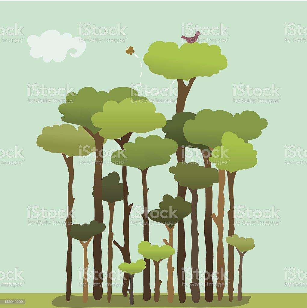 Reaching Tall vector art illustration