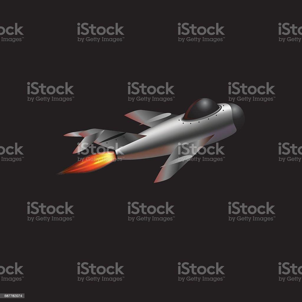 reactive plane vector art illustration