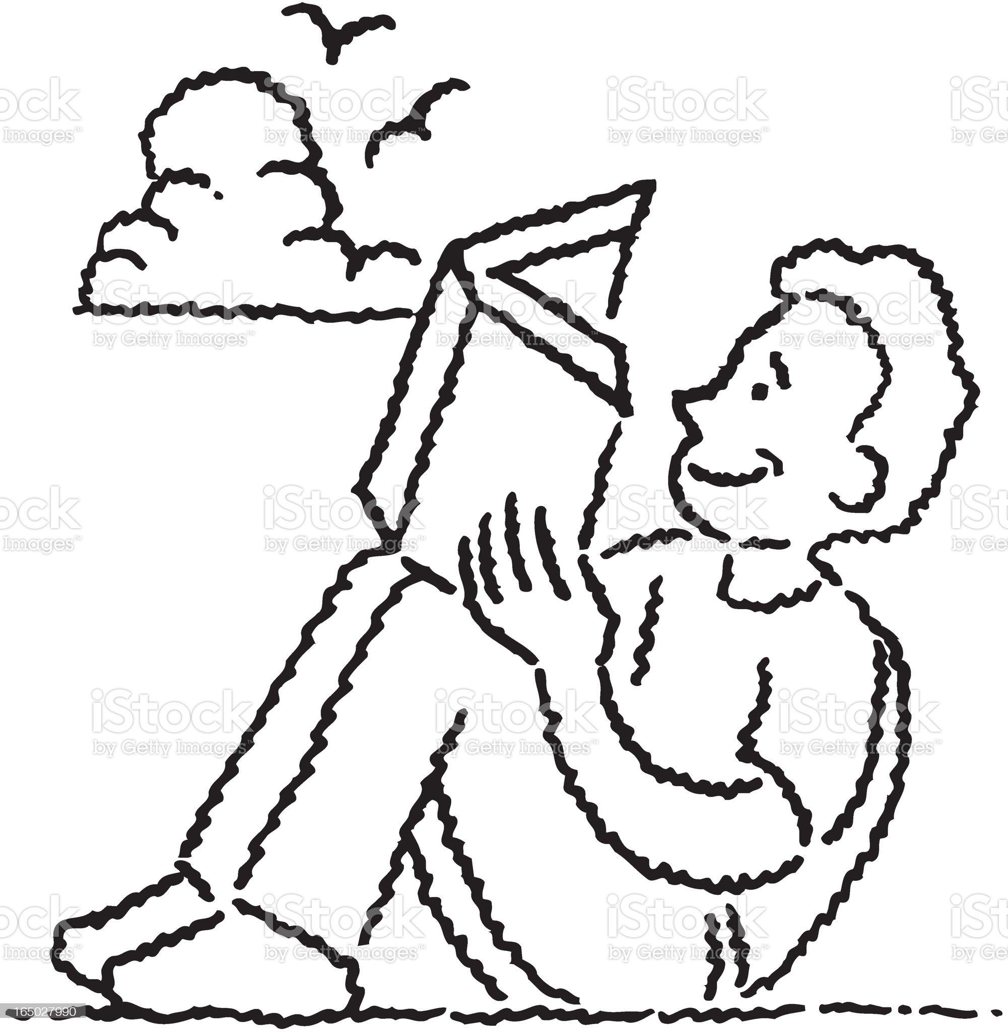 Read A Book royalty-free stock vector art