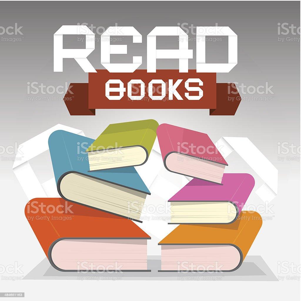 Read Books Vector Illustration royalty-free stock vector art