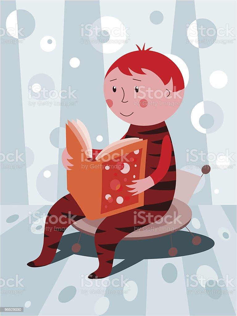 Reading a book royalty-free stock vector art