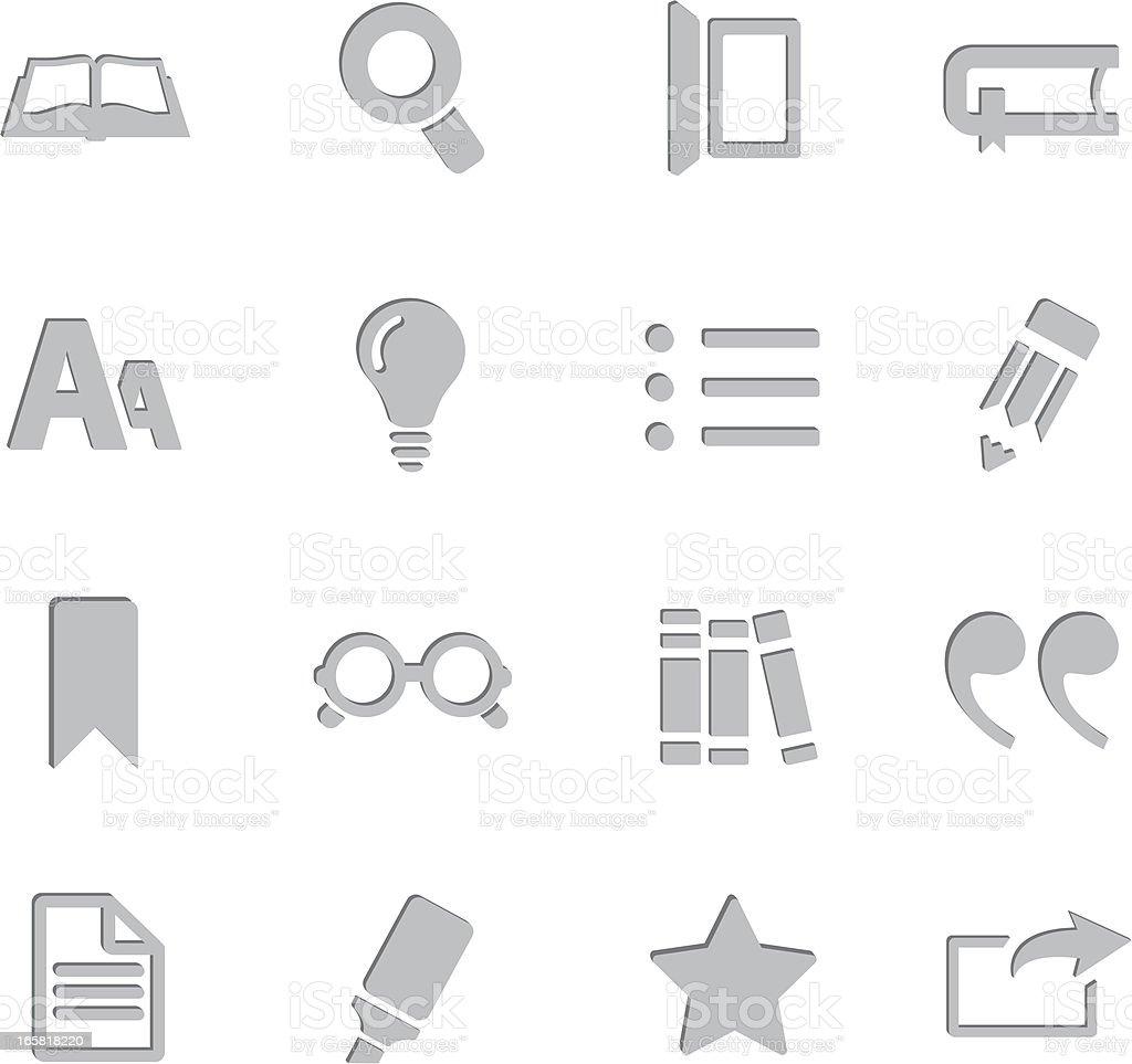 Reading Imprint Symbols royalty-free stock vector art