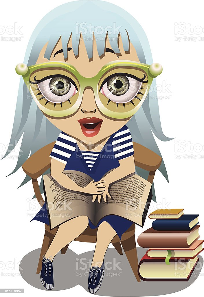 reading- it s exciting! vector art illustration