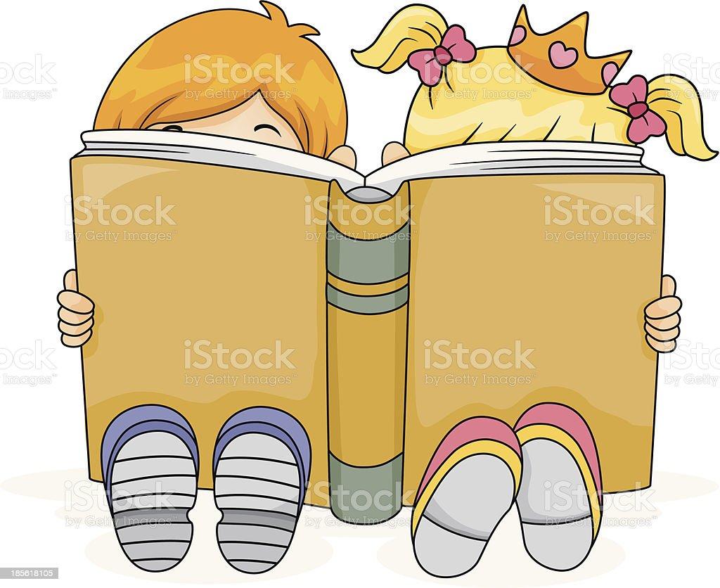 Reading Kids royalty-free stock vector art