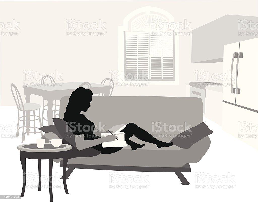 Reading Room royalty-free stock vector art