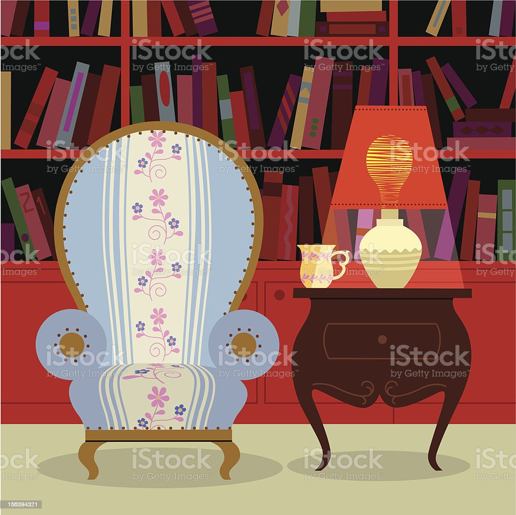 Reading time royalty-free stock vector art