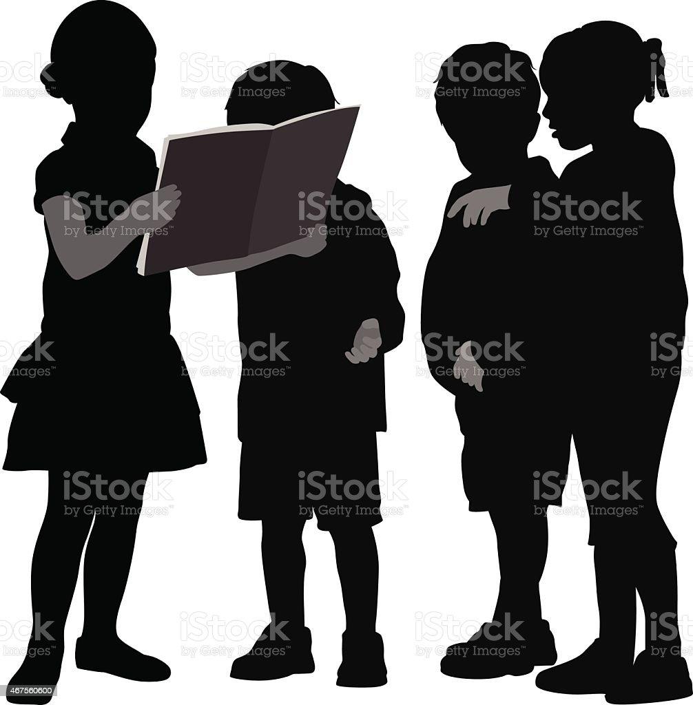 ReadingSharing vector art illustration