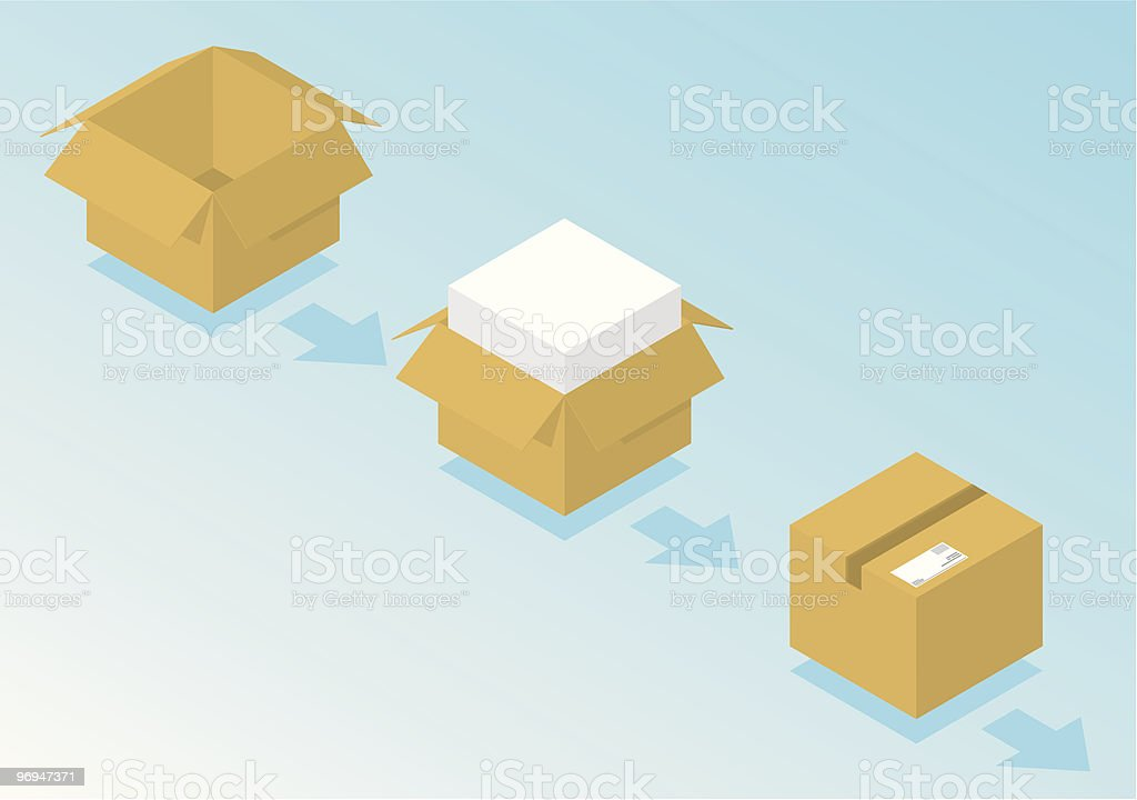 Ready for shipping royalty-free stock vector art