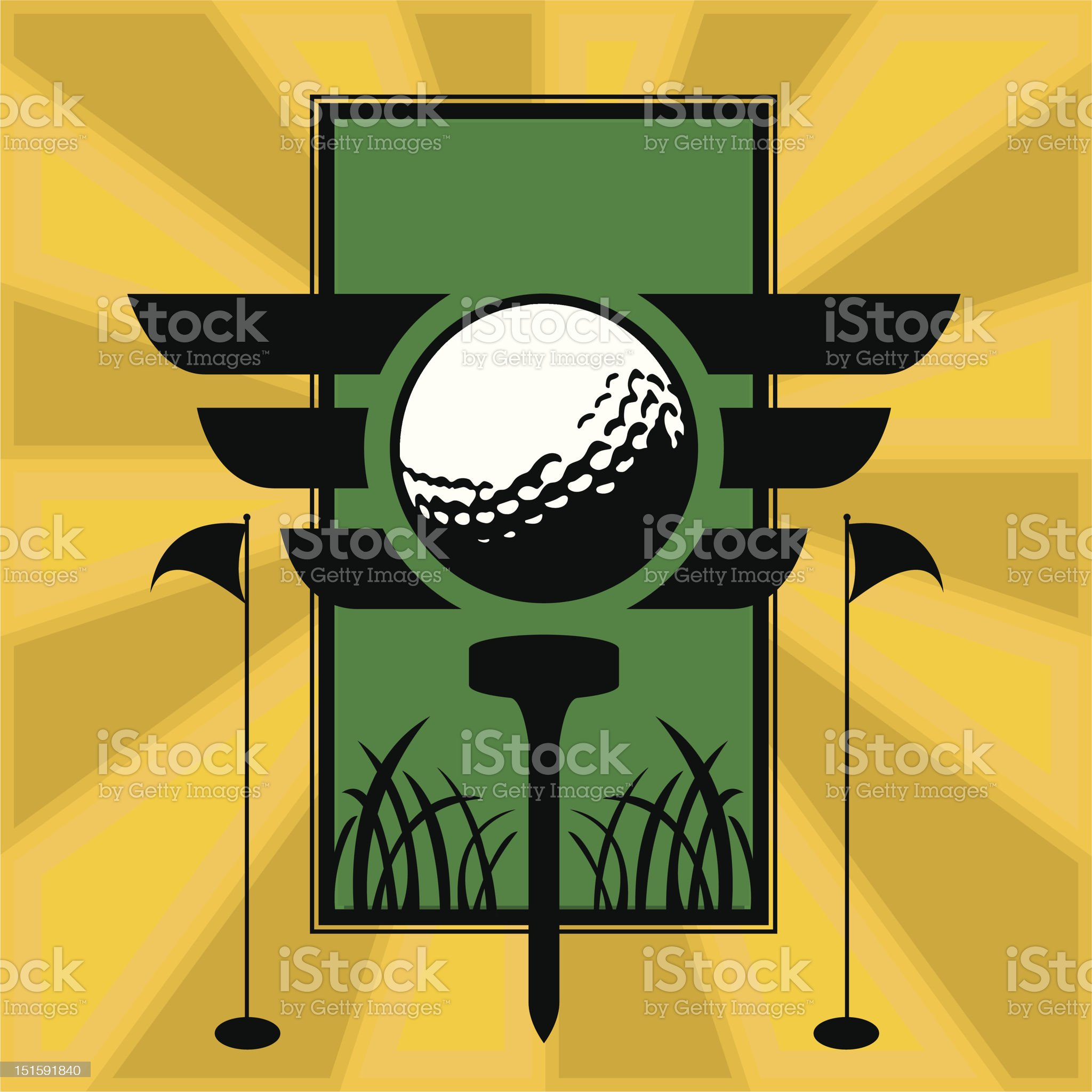 Ready for tee time royalty-free stock vector art