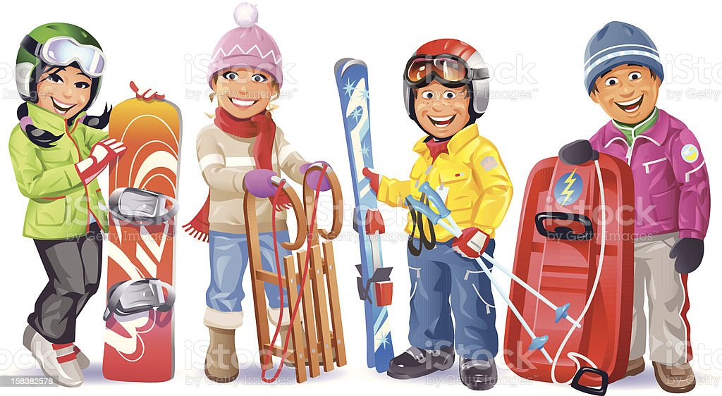 Ready For The Winter vector art illustration