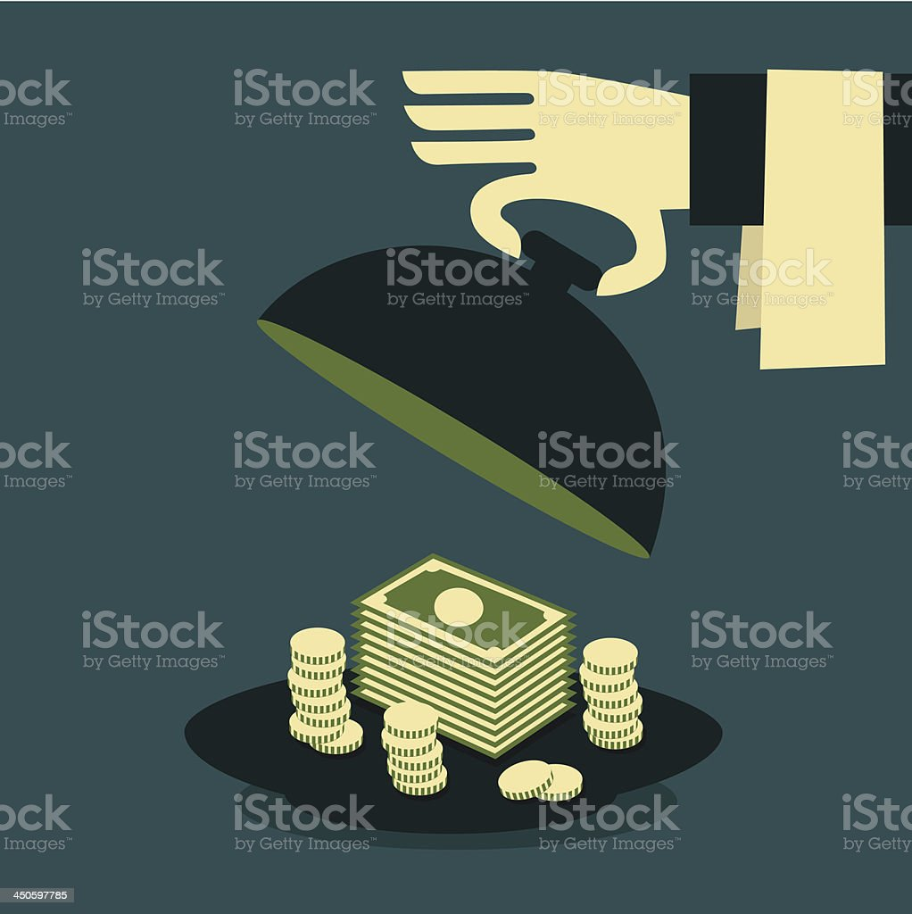 ready money royalty-free stock vector art