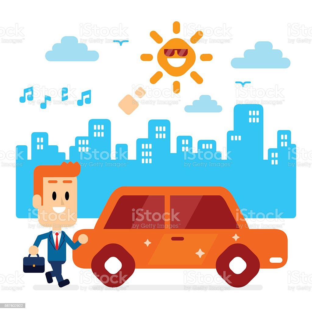 Ready To Go To Office vector art illustration
