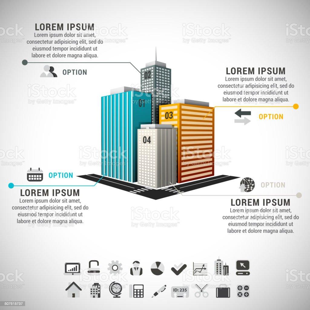 Real Estae Infographic vector art illustration