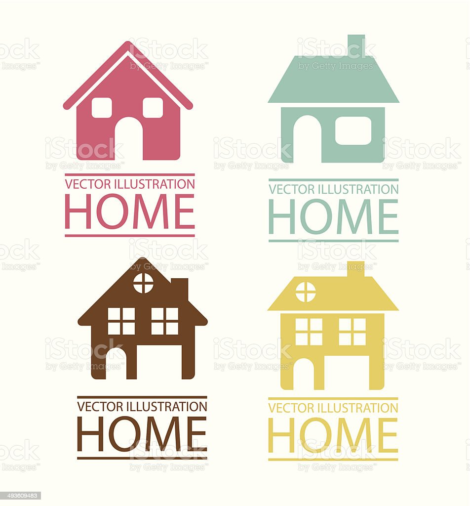 Real Estate And House Icons vector art illustration