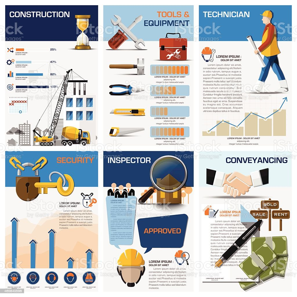 Real Estate And Property Business Chart Diagram Infographic vector art illustration