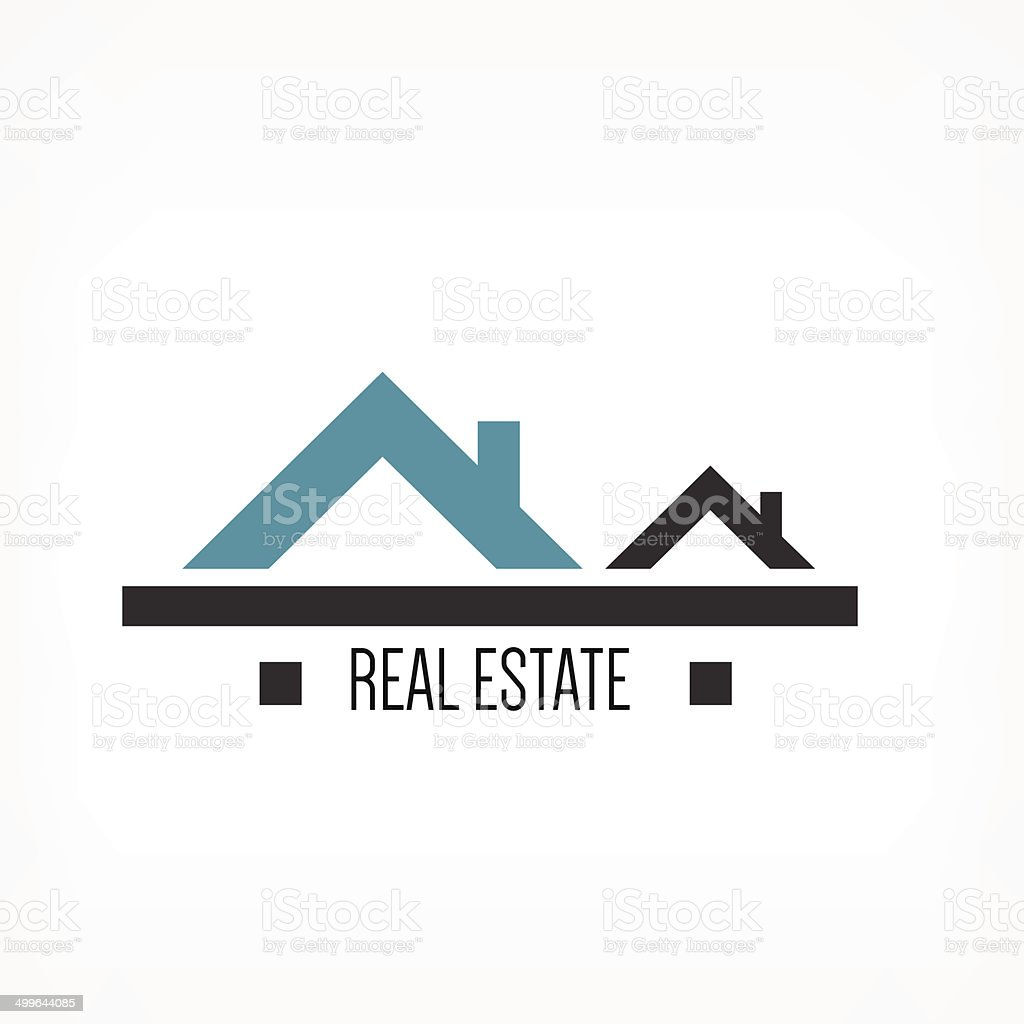 Real estate design template vector art illustration