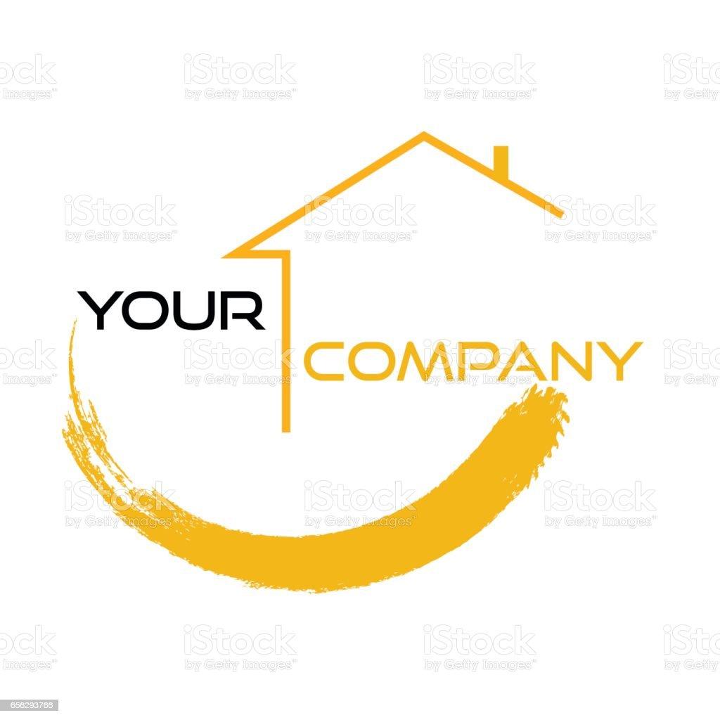 Real estate design vector art illustration